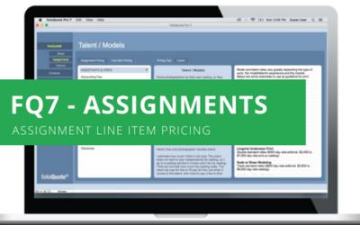 Assignment Line Item Pricing