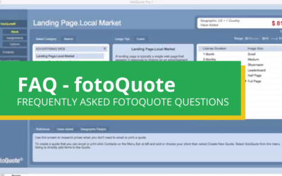 Frequently Asked Questions About fotoQuote