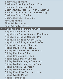 Cradoc fotosoftware - negotiation - image uniqueness - freelance photography
