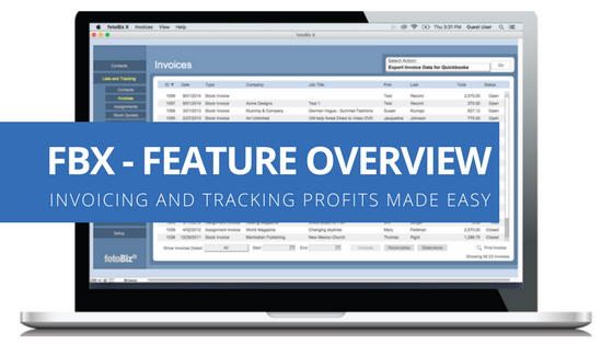 Cradoc fotoBiz - Invoicing and Tracking Profits made easy for freelance photographers