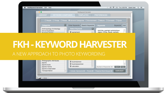 Cradoc fotoKeyword Harvester - A NEW APPROACH TO PHOTO KEYWORDING