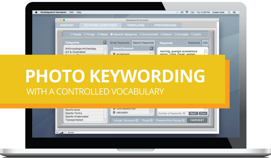 photo keywording with a controlled vocabulary - cradoc fotosoftware