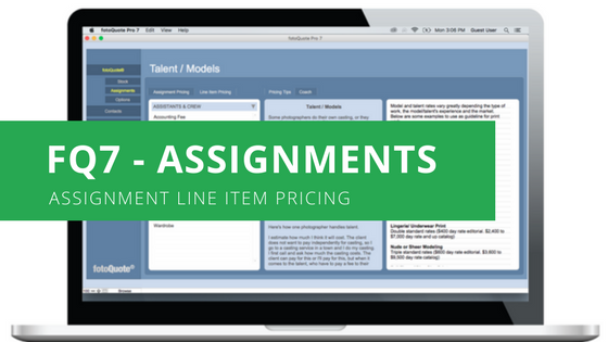 Assignment Line Item Pricing