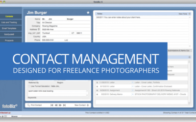 Contact Management for Photographers